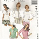 Uncut McCall's 6440 Sewing Pattern Misses Knit Tops Sizes XSM SM MED (4-14)