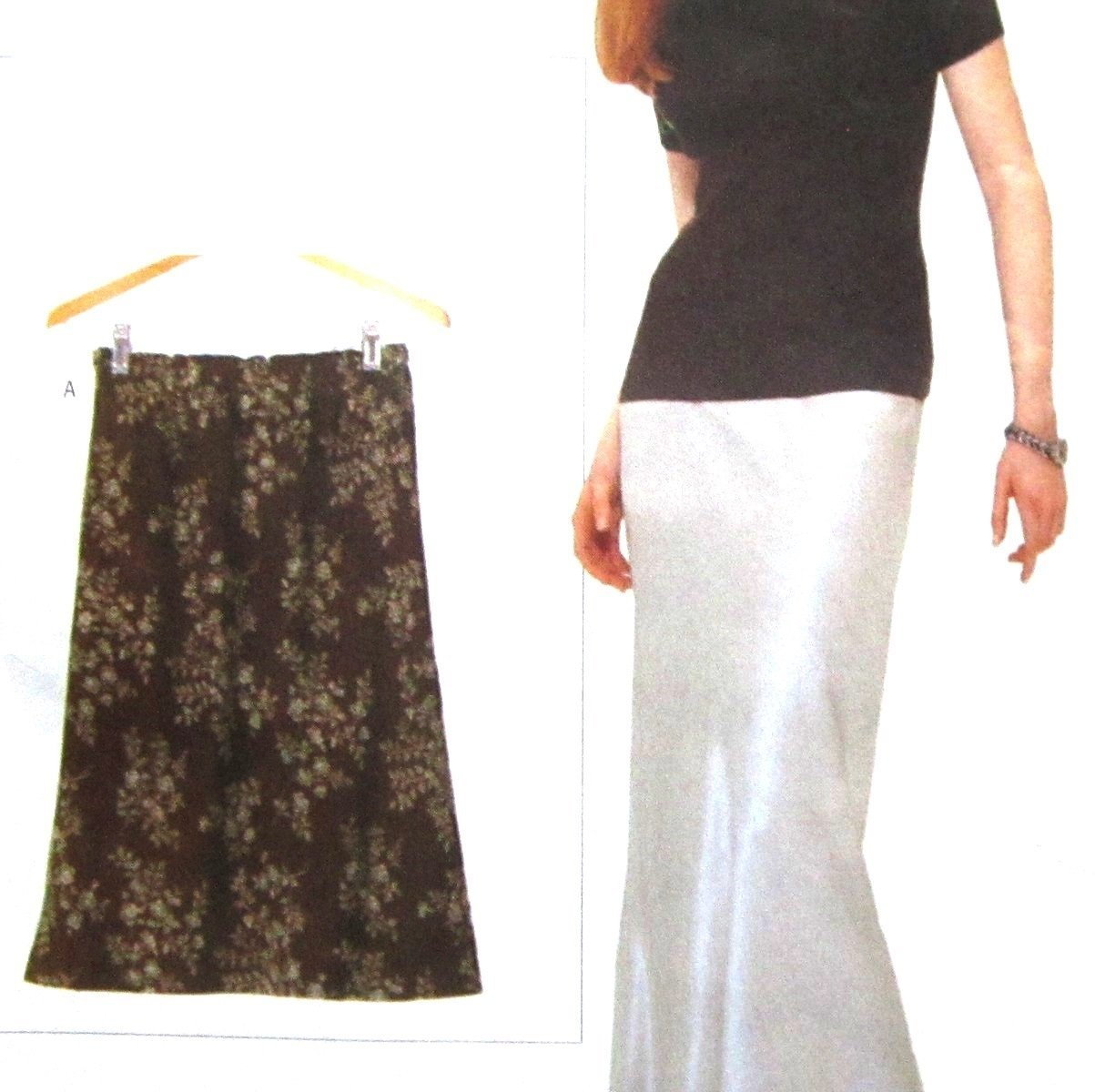 Vogue 9541 Uncut Pattern Misses Bias Cut Skirt Elastic Waist 2 Lengths Sizes XS-XL