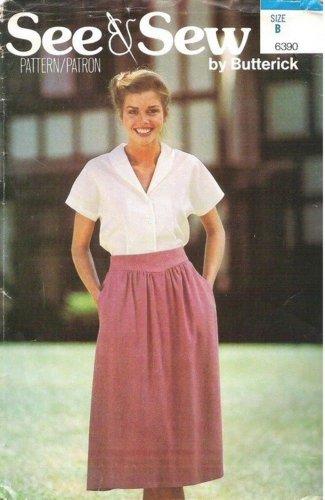 Uncut Pattern Misses Skirt Blouse Size 10 12 14 Butterick 6390