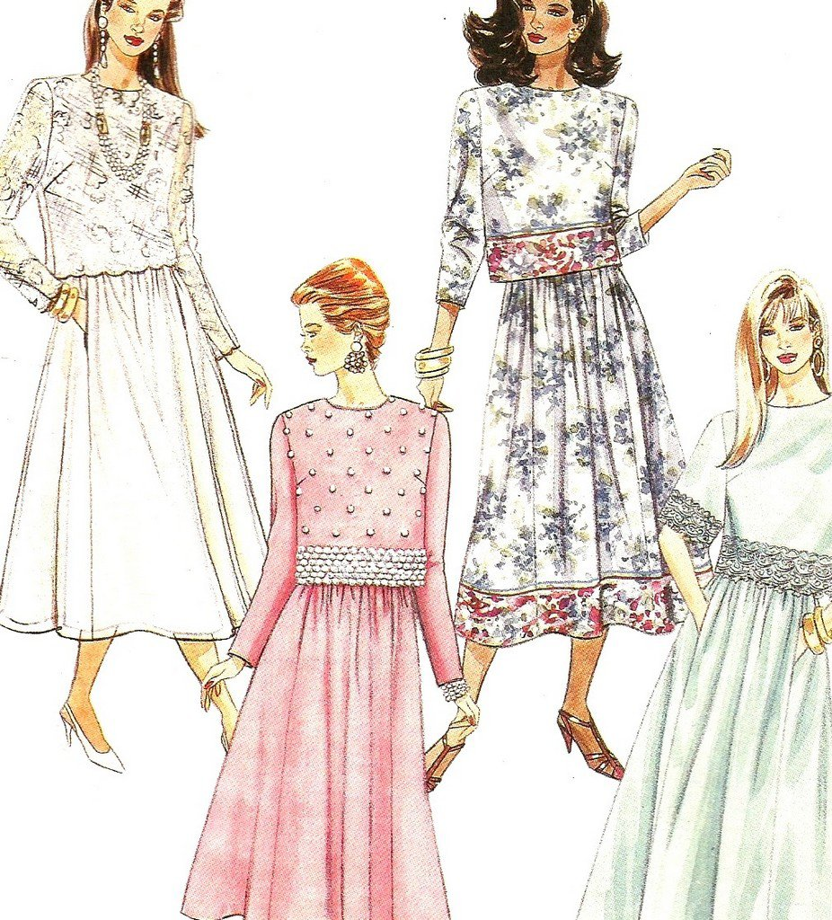 79f15c7b2b Mccalls 6303 Uncut Sewing Pattern Misses Two Piece Dresses Evening or Day  Size 10 12 14