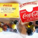 COKE COCA COLA collector marbles 2 packages soda pop diner
