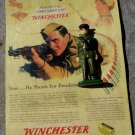 WINCHESTER soldier toy advertisement includes insurance  infantry promo ad army officer military