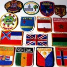 15 COUNTRIES around THE WORLD international patches