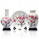 Fine porcelain vase and plate set 3 in 1(jdp001)