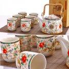 High quality porcelain teapot set 1 teapot with 6 cups(ch00d)