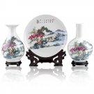 Fine porcelain vase and plate set 3 in 1(jdp004)