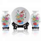 Fine porcelain vase and plate set 3 in 1[jdp007]