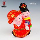 Hand Painted Clay Figure Wedding Gift s3