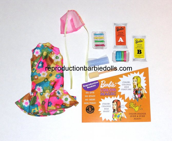 Color Magic Bloom Bursts Reproduction Barbie Outfit