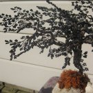 Beaded tree, black metallic
