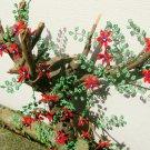 Beaded red flower on branch