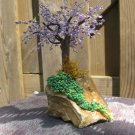 Beaded tree, lilac/purple & green