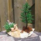 Beaded pine tree & bush
