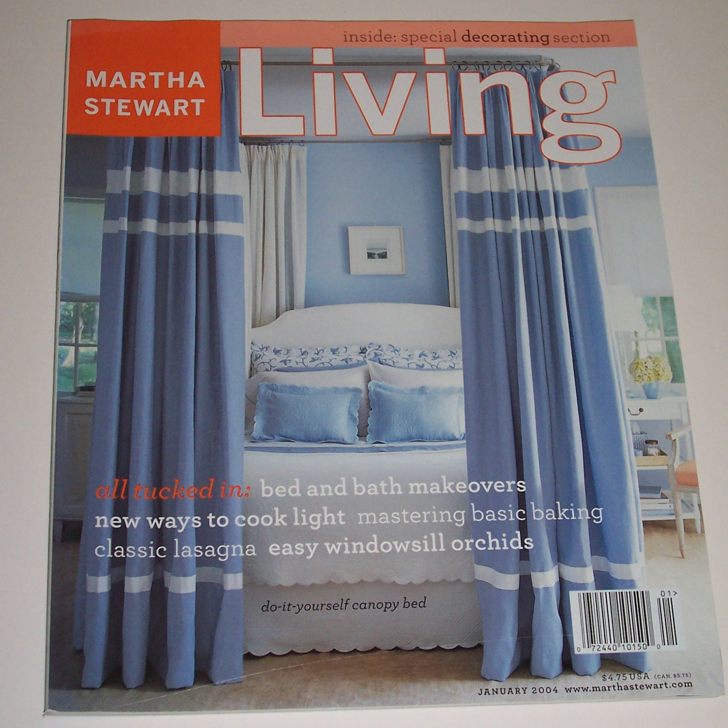 Martha Stewart Living, all tucked in January 2004, Number 122 magazine issue