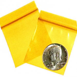 "200 Yellow Baggies 2 x 2"" Small Ziplock Bags 2020"