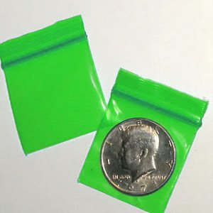 "200 Green Baggies 1.5 x 1.5"" Small Ziplock Bags 1515"