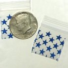 "200 Blue Stars Baggies 1.25 x 1.25"" Small Ziplock Bags 125125"