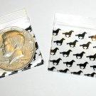 """200 Black Horses Baggies 1.25 x 1.25"""" Small Ziplock Bags 125125"""