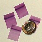 200 Baggies 1212 Purple 1/2 x 1/2 in small ziplock bags