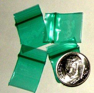 "1000 Green Baggies 5858 ziplock 5/8 x 5/8"" Apple® Brand"