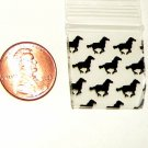 200 Baggies Black Horses design 1010  small ziplock bags 1 x 1&quot;