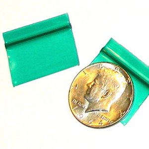 1000 Green Baggies 12534 ziplock bags 1.25 x 0.75 inch