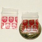 200 Red Lions Baggies Small Ziplock Bags 0.5 x 0.5""