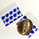 """200 Blue Jaguars Baggies 1510,  1.5 x 1"""" ziplock bags"""