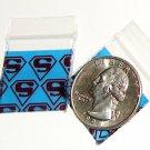 "Superman 200 Baggies 1010  small ziplock bags 1 x 1"""