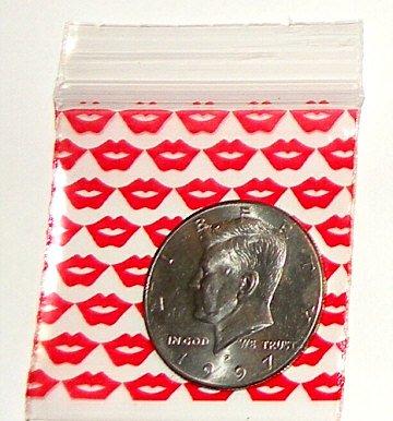 "200 Red Lips 2 x 2"" Small Ziplock Bags 2020"