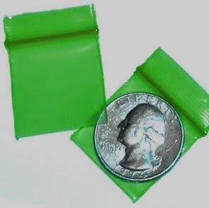 200 Green1010 Baggies 1 x 1 in. Small Ziplock Bags