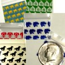 1000 Baggies 12510 10 diff. Mixed Designs 1.25 x 1 in.