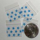 200 Blue Stars Baggies 12510 ziplock bags 1.25 x 1 inch