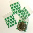 """200 Green Aliens Baggies 3434 ziplock 0.75 x 0.75"""" Apple Brand"""