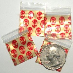 200 Baggies Web Slinger design, 1010 Apple® Brand Bags 1 in by 1 in.