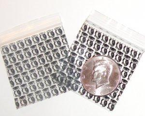 200 Black Owl Design Baggies 2020 Apple® Brand Bags 2 x 2 in.