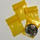 "200 Yellow Baggies 3434 ziplock 0.75 x 0.75"" Apple Brand"