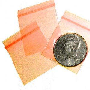 "1000 Electric Orange Baggies 1.5 x 1.5"" Small Ziplock Bags 1515"