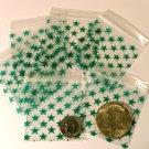 """200 Green Stars 2 x 2"""" Small Ziplock Bags 2020"""