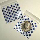 "1000 Mini Ziplock Bags Blue Stars 2 x 2"" Apple reclosable baggies 2020"