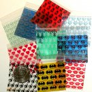 "500 Mini Ziplock Bags 2 x 2"" Five designs Apple brand baggies 2020"