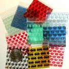 "500 Mini Ziplock Bags 2 x 2"" Five designs Apple brand baggies 2020"