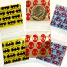 300 Superhero Trio Baggies  1 x 1 in. Spider- Bat- Superman