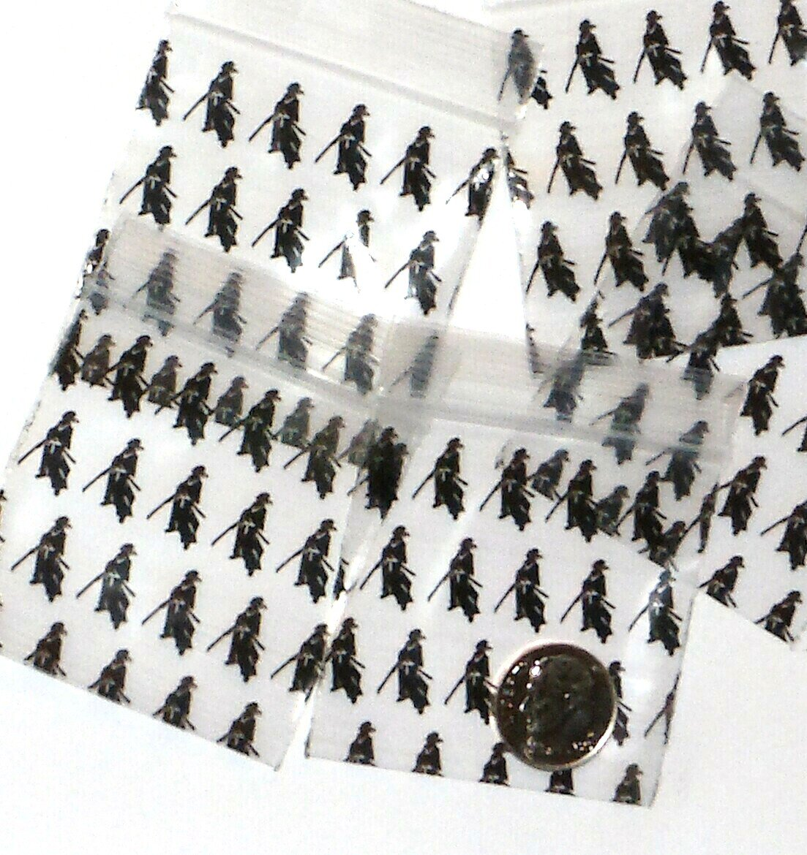 "1000 Samurai Warriors Baggies 2 x 2"" Mini Ziplock Bags 2020"