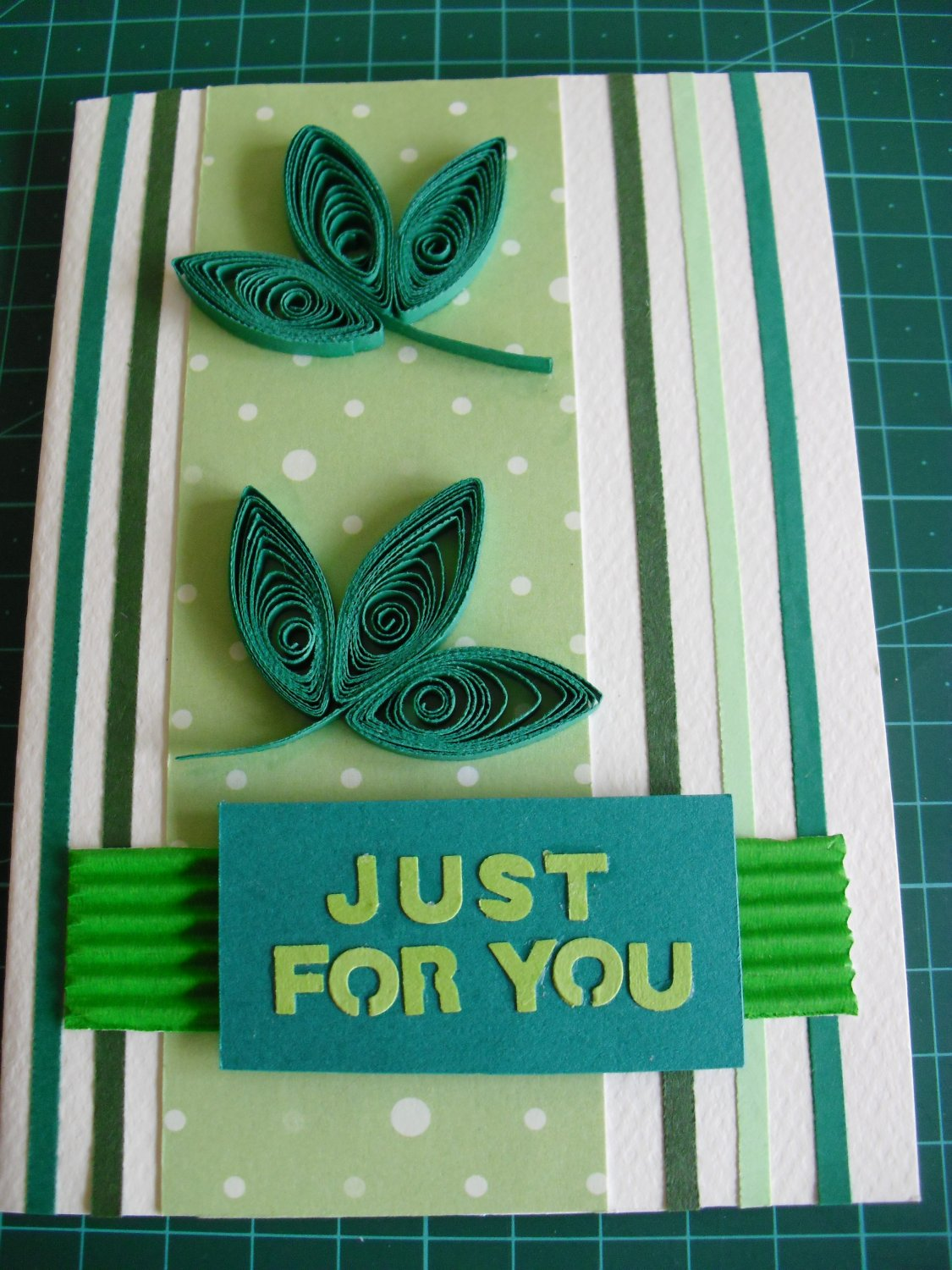 My handmade paper quilled gift card