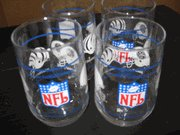 Set of 4 Vintage NFL Drinking Glasses featuring old AFC Central Teams