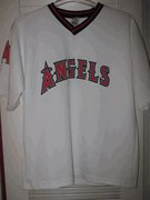 Vintage Anaheim Angels White Baseball Shirt by Big Time