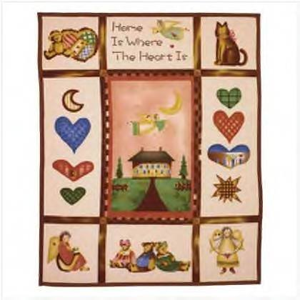 #35665 Country Home Fleece Blanket