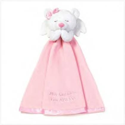 #36626 Girl's Angel Bear Security Blanket