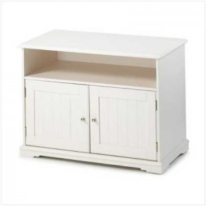 #36673 White Tv Stand Cabinet